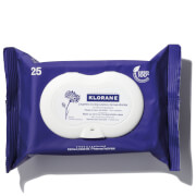 KLORANE Soothing Make-Up Removal Wipes with Cornflower (25 Wipes) – Biodegradable