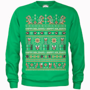 Sweat de Noël Homme Happy Holidays Bad Guys - Super Mario Nintendo - Vert
