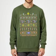 Pull de Noël Homme Nintendo The Legend Of Zelda Rétro - Vert