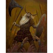 Lithographie Iron Maiden Eddie le Viking de Jamie Carrillo (41 x 51)