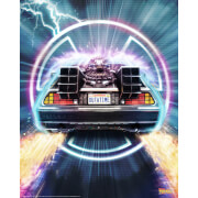 Limited Edition Fine Art Giclee - Back to the Future - Outatime - Zavvi Exclusive