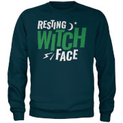 Resting Witch Face Navy Sweatshirt