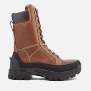 Hunter Men's Field Lace Up Tall Boots - Waxed Tan