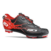 Sidi Tiger Matt Carbon MTB Cycling Shoes - Black/Red - EU 42.5 - Matt Black/Red