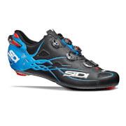Sidi Shot Matt Carbon Cycling Shoes - Black/Light Blue - EU 43
