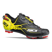 Sidi Tiger Matt Carbon MTB Cycling Shoes - Black/Yellow Fluo - EU 46.5 - Matt Black/Yellow Fluo