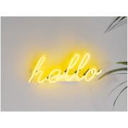 Hello Neon Wall Light - Yellow