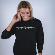 Girl Gains I'm Perfectly Imperfect Sweatshirt - Black