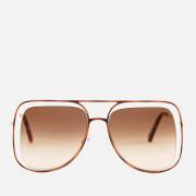 Chloe Women's Poppy Aviator Sunglasses - Havanna/Brown