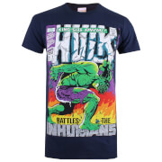 Marvel Men's Hulk King Size T-Shirt - Navy