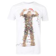 Star Wars Men's Christmas Chewbacca Lights T-Shirt - White