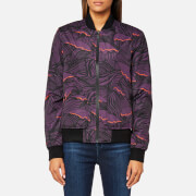 Hunter Women's Original Insulated Bomber Jacket - Pale Sand/Pink - UK 6 - Multi