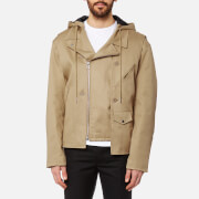 Helmut Lang Men's Light Buildout Moto Jacket - Khaki - L - Khaki