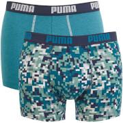 Lot de 2 Boxers Imprimés Blocs Puma - Bleu