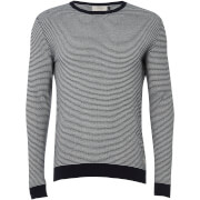 Jack & Jones Originals Men's Nash Striped Jumper - Cloud Dancer