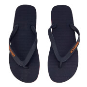 Jack & Jones Men's Plain Flip Flops - Navy Blazer/Orange Ochre