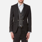 Vivienne Westwood MAN Men's Morning Stripe Waistcoat Jacket - Black - EU 48/M - Black