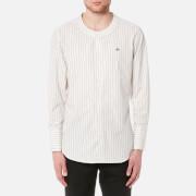 Vivienne Westwood MAN Men's Poplin Low Neck Stripe Shirt - White
