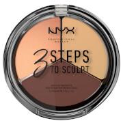 Тройная палетка для скульптурирования NYX Professional Makeup 3 Steps to Sculpt Face Sculpting Palette - Medium фото