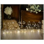 Lyyt Wire Frame Dream Lighting Metal Motif - Warm White