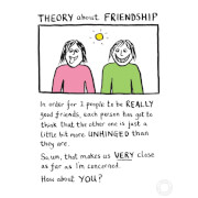 Edward Monkton 'Theory Of Friendship' Limited Edition Art Print