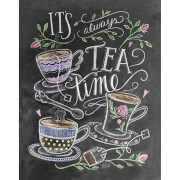 Lily & Val Tea Time Art Print