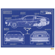 Back to the Future Blueprints - Limited Edition Art Print