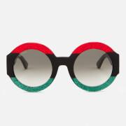 Gucci Women's Round Frame Sunglasses - Red/Black
