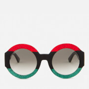 Gucci Women's Round Frame Sunglasses - Red/Black