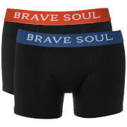 Brave Soul Men's Bruno 2-Pack Boxers - Black/Red/Blue