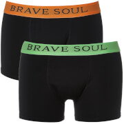Brave Soul Men's Bruno 2-Pack Boxers - Black/Lime/Orange