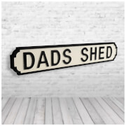 Shh Interiors 'Dads Shed' Vintage Street Sign