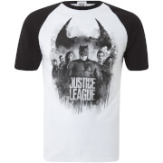 T-Shirt Homme Logo Justice League DC Comics - Blanc
