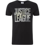 DC Comics Men's Justice League Logo T-Shirt - Black
