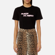 Ganni Women's Harway Pardon My French T-Shirt - Black