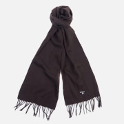 Barbour Plain Lambswool Scarf - Chocolate