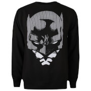 DC Comics Men's Batman Lines Sweatshirt - Black