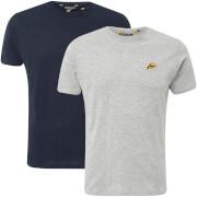 Pack de 2 Camisetas Brave Soul Dorado - Hombre - Azul marino/gris claro