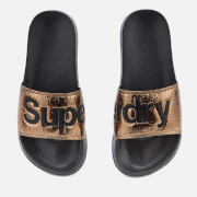 Superdry Women's Pool Slide Sandals - Copper Crackle