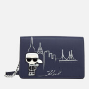 Karl Lagerfeld Women's NYC Shoulder Bag - Navy