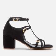 Hudson London Women's Freja Suede Heeled Sandals - Black - UK 3 - Black