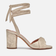 Hudson London Women's Fiji Leather Heeled Sandals - Gold - UK 3 - Gold
