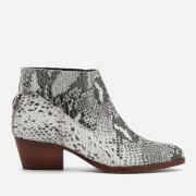 Hudson London Women's Ernest Snake Ankle Boots - Grey - UK 3 - Grey