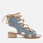 See By Chloé Women's Denim Lace Up Sandals - Denim - UK 3 - Blue