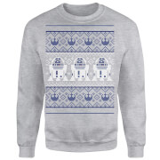 Star Wars R2D2 Christmas Knit Grey Christmas Sweatshirt
