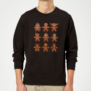 Star Wars Gingerbread Characters Black Christmas Sweater
