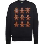 Star Wars Gingerbread Characters Black Christmas Sweatshirt