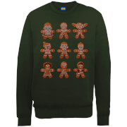 Star Wars Gingerbread Characters Green Christmas Sweater