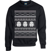 Star Wars Christmas Stormtrooper Knit Black Christmas Sweatshirt