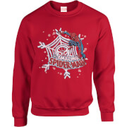 Sweat Homme/Femme The Amazing Spider-Man Flocon Toile - Marvel Comics - Rouge